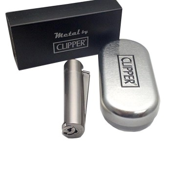 İsme Özel Mat Metal Clipper Çakmak Metal Kutulu Gazlı