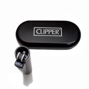 Kişiye Özel Metal Siyah Clipper Çakmak Kutulu