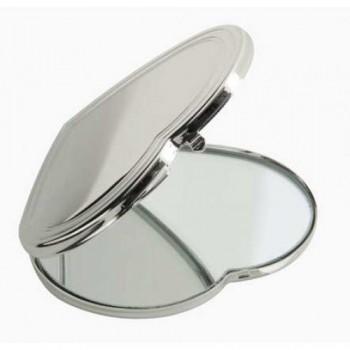 Kişiye Özel Kalp Model Metal Makyaj Aynası