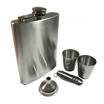 Kişiye Özel Metal Stainless Steel Kadehli ve Çakılı Matara