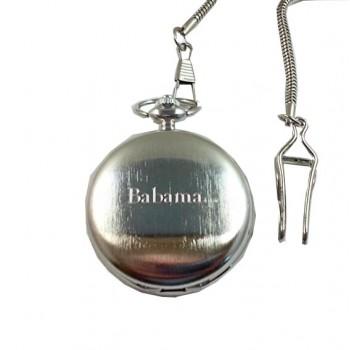 İsim Yazılan Metal Köstekli Cep Saati