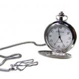 İsim Yazılı Mat Metal Köstekli Cep Saati