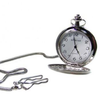 Kişiye Özel Tuğra İşlemeli Köstekli Cep Saati