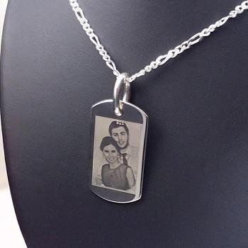 Foto Baskılı 925 Ayar Gümüş Asker Künyesi