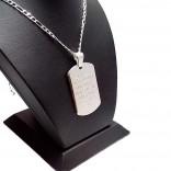 Ayetel Kürsi Baskılı 925 Ayar Gümüş Asker Künyesi