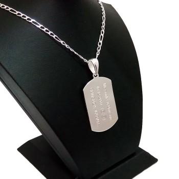 925 Ayar Gümüş Asker Künyesi İsim Harf Yazı Yazılır