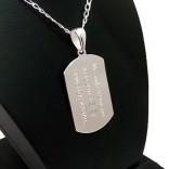 925 Ayar Gümüş Asker Künyesi İsim Harf Yazılır