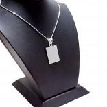 925 Ayar Gümüş Kolye İsim Harf Yazılır 14x20mm