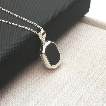 Kisiye Özel Yazılı Gümüş içine fotoğraf konulan kolye