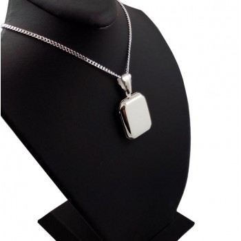 925 Ayar Gümüş İçine Resim Koyulan Madalyon Kolye
