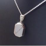 925 Ayar Gümüş İçine Foto Koyulan Madalyon Kolye 01