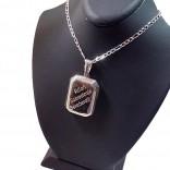 İsim Yazılı Gümüş Foto Konulan Madalyon kolye 25x35mm