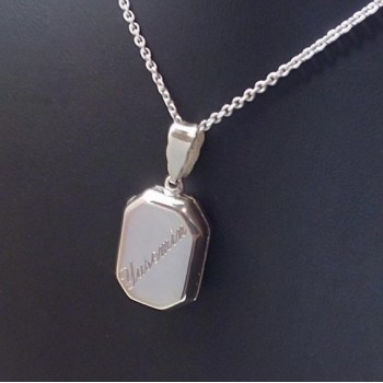 İsme Özel Yazılı Gümüş Madalyon kolye 16x24mm
