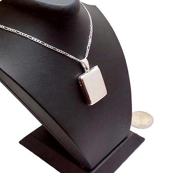 İsme Özel Yazılı Gümüş Madalyon kolye 20x25mm