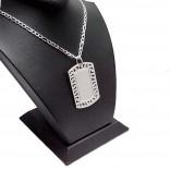 925 Ayar Gümüş Harf ve İsim Yazılı Kesimli Desenli Kolye