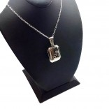 Sevgiliye Hediye Fotolu Gümüş Madalyon kolye 22x30mm