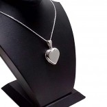 Kalp Modeli Harf Yazılan Gümüş Kolye Kapaklı