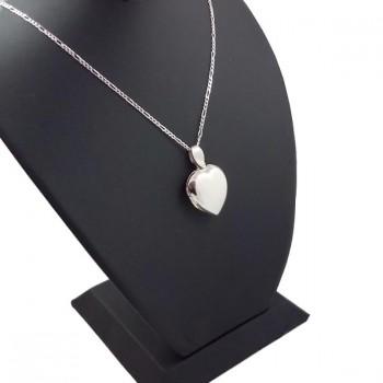 içine foto konulan kalp modeli harf yazılan gümüş kolye