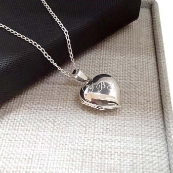 925 Ayar Gümüş İçine Resim Konulan Kalp Kolye 6