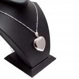 Kişiye Özel 925 Ayar Gümüş içine foto konulan kalp kolye