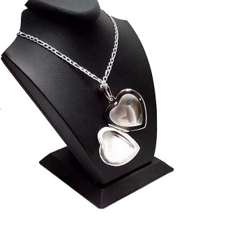 Kişiye Özel 925 Ayar Gümüş içine Resim konulan Kalp Kolye