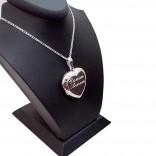Sevgililer Günü Hediyesi Fotoğraf Konulan Gümüş kalp kolye