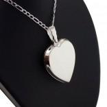 Kişiye Özel 925 Ayar Gümüş içine foto konulan kalp kolye 32x34