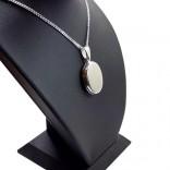 İçine Foto Konulan Oval Kolye 925 Ayar Gümüş