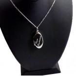 İsim Yazılı 925 Ayar Gümüş içine foto konulan Oval kolye