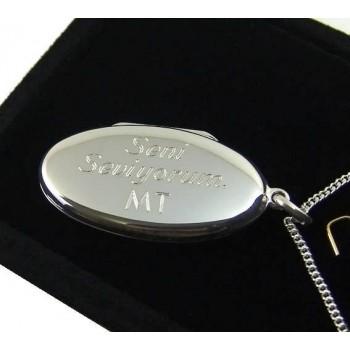 925 Ayar Gümüş İçine Foto Konulan Oval Kolye 35