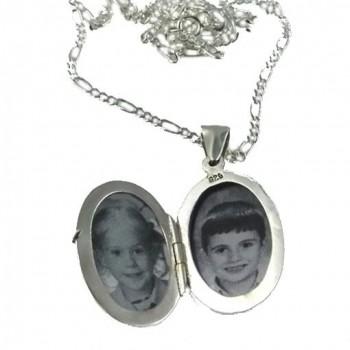 Ayetel Kürsi Yazılı Fotoğraf Konulan Gümüş Oval Kolye 16x20mm