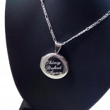 kişiye Özel 925 Ayar Gümüş Fotoğraf konulan Kolye