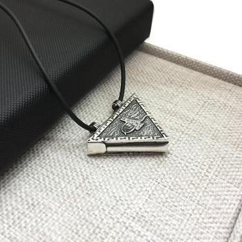 Tuğralı Muskalık 925 Ayar Gümüş İsim Yazı Yazılır