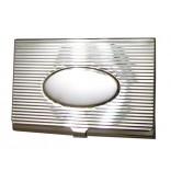 Kişiye Özel 925 Ayar Gümüş Kartvizitlik Oval