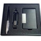 İsme Özel Deri Kartvizitlik Kalem ve 8GB USB Bellek Seti