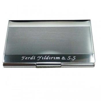 İsme ve kişiye özel metal kartvizitlik*12