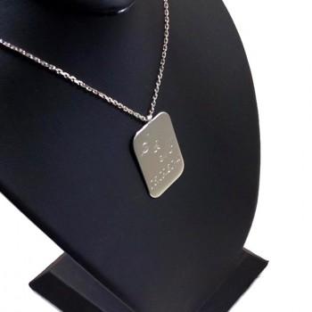 925 Ayar Gümüş Harf ve İsim Yazılı Plaka Kolye