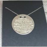 Farklı Dillerde Seni Seviyorum Yazılı Gümüş Kolye HARF Yazı