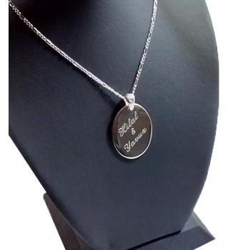 925 Ayar Gümüş Harf ve İsim Yazılı Oval Kolye