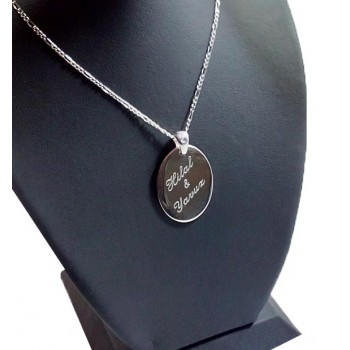 925 Ayar Gümüş Ayetel Kürsi Yazılı Oval Kolye 01