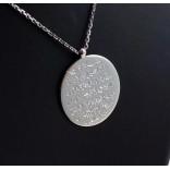 925 Ayar Gümüş Ayetel Kürsi Yazılı Yuvarlak Kolye
