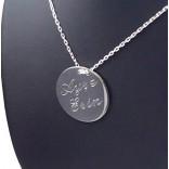 Kişiye Özel 925 Ayar Gümüş Kolye HARF ve İSİM Yazılı