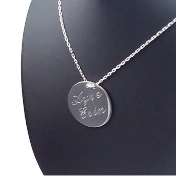 Kişiye Özel İstanbul Silüetli 925 Ayar Gümüş Kolye HARF Yazılı
