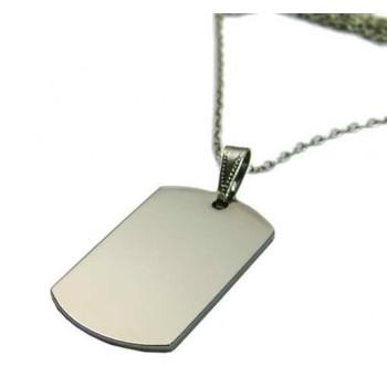 Nikel Kaplama Asker Künyesi Üzerinde Ayetel Kürsi Yazılı