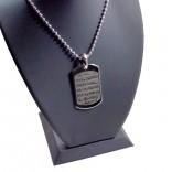 Nikel Kaplama Asker Künye Modeli Üzerinde Ayetel Kürsi