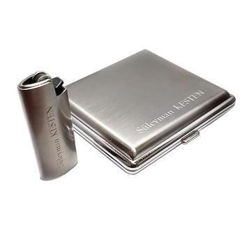 Kişiye Özel Sigara Tabakaları ve Metal Clipper Çakmak