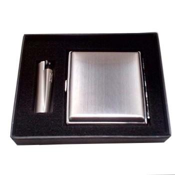 Kişiye Özel Sigara Tabakası ve Metal Clipper Çakmak Kutulu