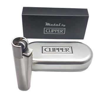 Kutulu Metal Clipper Çakmak ve Sigara Tabakası Yazı Yazılır