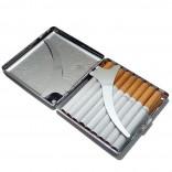 İsminiz Yazılı sigara Tabakası Çizgili Metal *d18