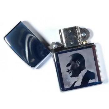 Atatürk Resim Baskılı Zippo çakmak